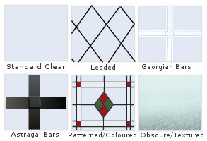 Traditional Glazing Options